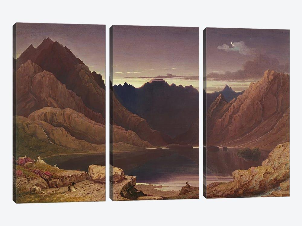 Loch Coruisk, Isle of Skye - Dawn, c.1826-32  by George Fennel Robson 3-piece Canvas Artwork