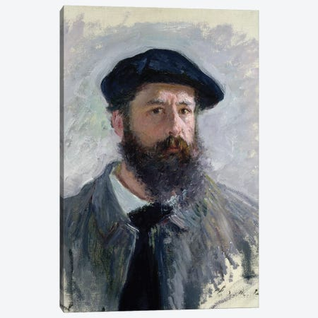 Self Portrait with a Beret, 1886  Canvas Print #BMN2827} by Claude Monet Art Print