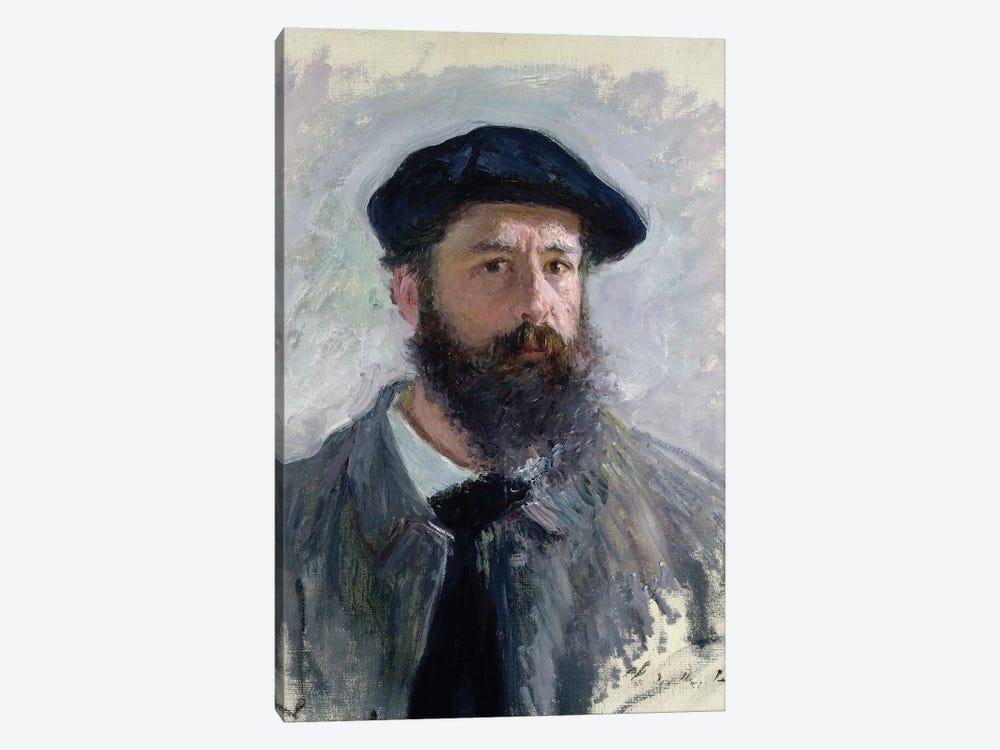 Self Portrait with a Beret, 1886  by Claude Monet 1-piece Art Print