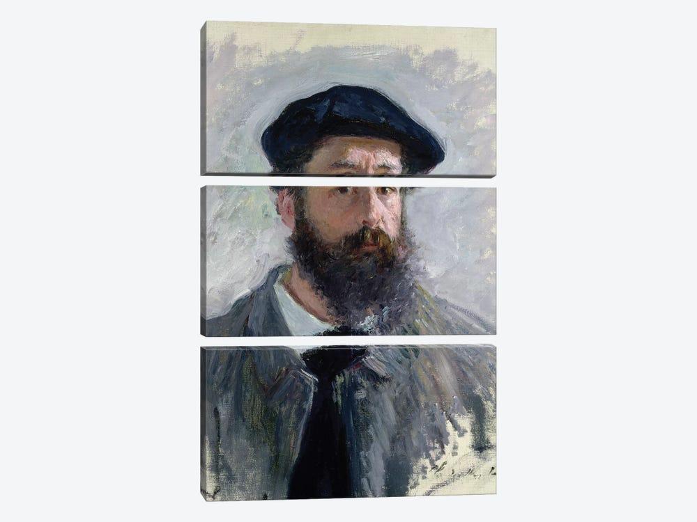 Self Portrait with a Beret, 1886  by Claude Monet 3-piece Art Print