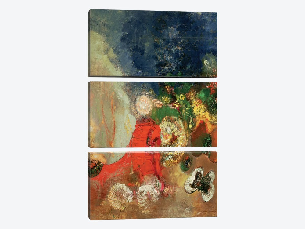 The Red Sphinx, c.1912  by Odilon Redon 3-piece Canvas Art Print
