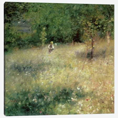 Spring at Chatou, c.1872-5 3-Piece Canvas #BMN282} by Pierre-Auguste Renoir Canvas Wall Art