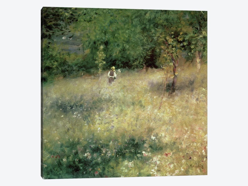 Spring at Chatou, c.1872-5 by Pierre-Auguste Renoir 1-piece Canvas Wall Art