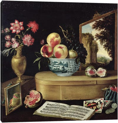 The Five Senses, 1638  Canvas Art Print