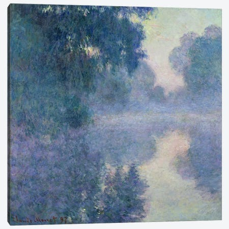 Branch of the Seine near Giverny, 1897  3-Piece Canvas #BMN2833} by Claude Monet Canvas Art Print
