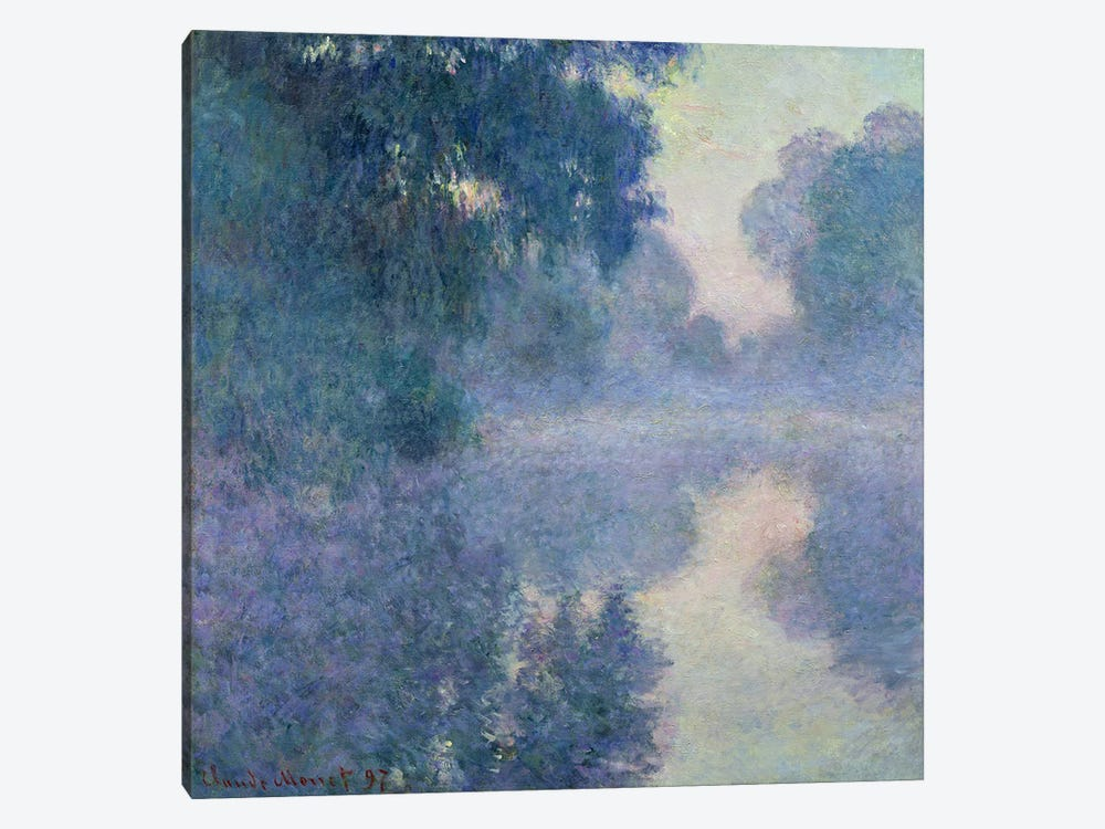 Branch of the Seine near Giverny, 1897  by Claude Monet 1-piece Canvas Artwork