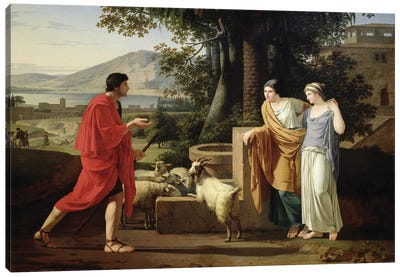 Jacob with the Daughters of Laban, 1787  Canvas Art Print
