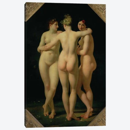 The Three Graces, 1794  Canvas Print #BMN2835} by Jean-Baptiste Regnault Canvas Artwork