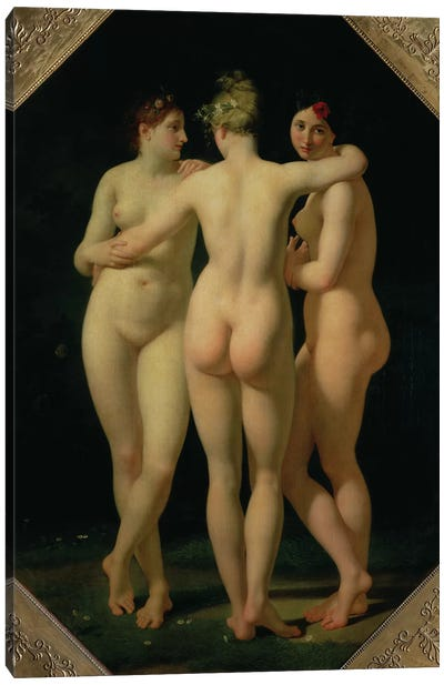 The Three Graces, 1794  Canvas Art Print