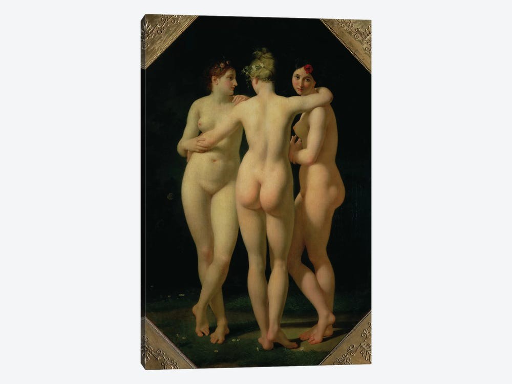 The Three Graces, 1794  by Jean-Baptiste Regnault 1-piece Canvas Art