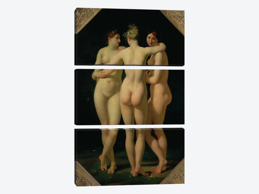 The Three Graces, 1794  by Jean-Baptiste Regnault 3-piece Canvas Art
