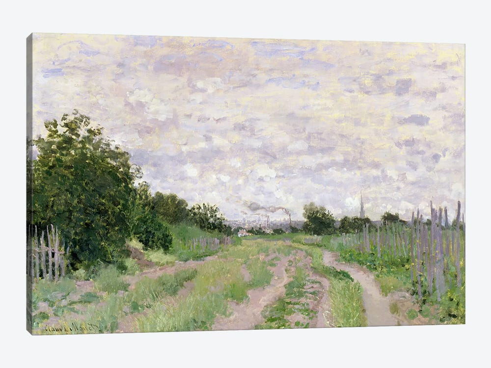 Path through the Vines, Argenteuil, 1872 by Claude Monet 1-piece Canvas Wall Art