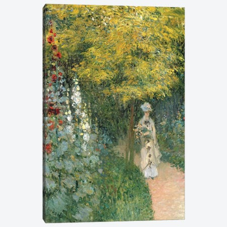 Rose Garden, 1876  Canvas Print #BMN2841} by Claude Monet Canvas Artwork