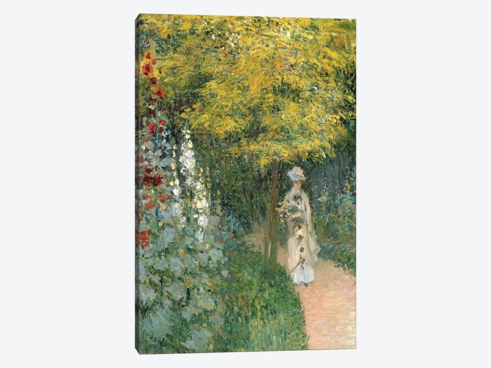 Rose Garden, 1876  by Claude Monet 1-piece Canvas Art Print