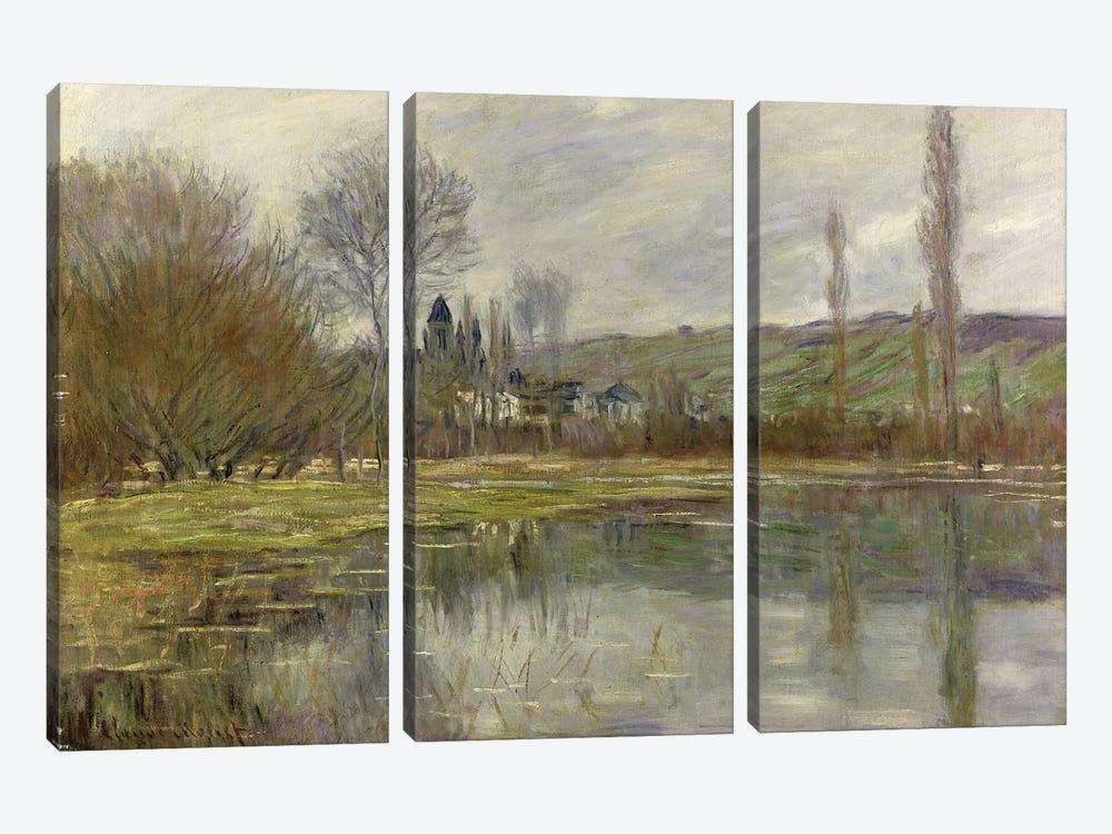 Landscape  by Claude Monet 3-piece Canvas Art Print