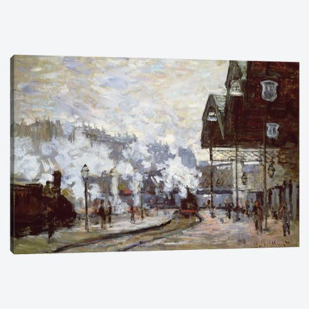 Gare Saint-Lazare, Paris, 1877  Canvas Print #BMN2850} by Claude Monet Canvas Art Print