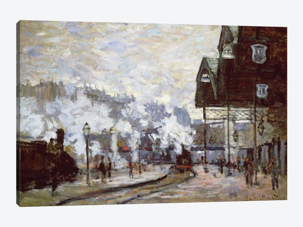 Gare Saint-Lazare, Paris, 1877  by Claude Monet 1-piece Canvas Art Print