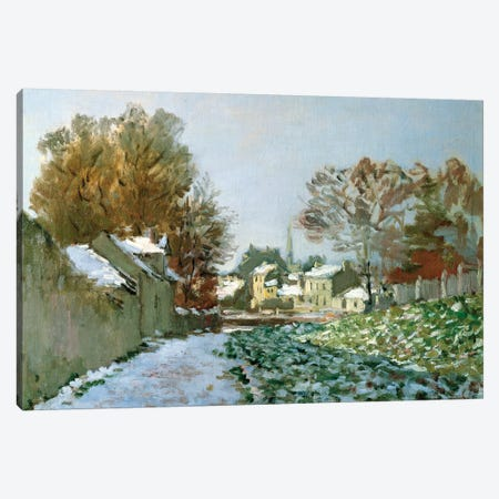 Snow at Argenteuil, 1874  Canvas Print #BMN2851} by Claude Monet Canvas Print