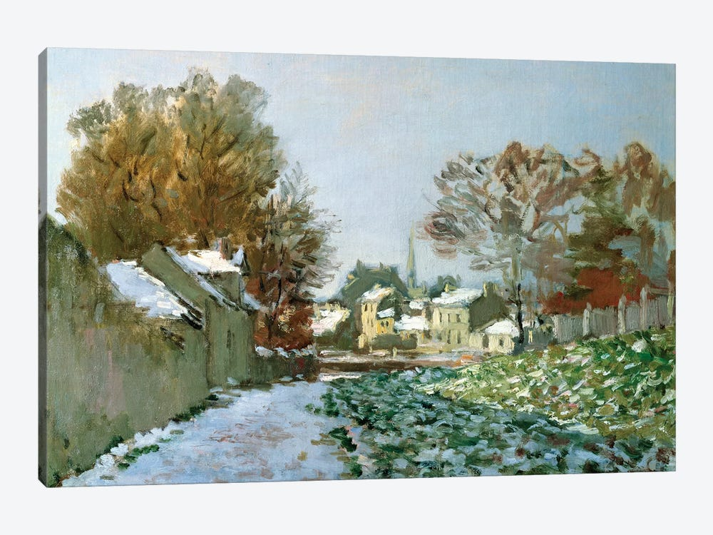 Snow at Argenteuil, 1874  by Claude Monet 1-piece Canvas Art