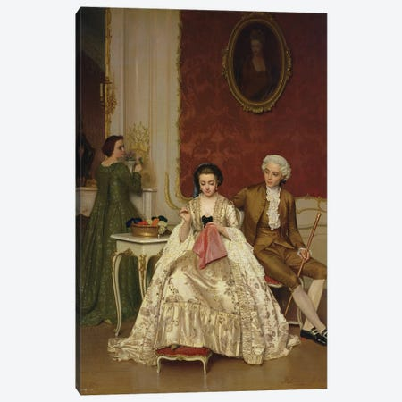 Jealousy, 1861  Canvas Print #BMN2856} by Petrus Renier Hubertus Knarren Canvas Artwork