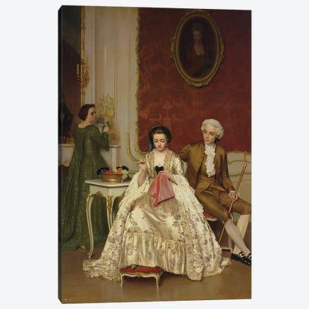 Jealousy, 1861  3-Piece Canvas #BMN2856} by Petrus Renier Hubertus Knarren Canvas Artwork