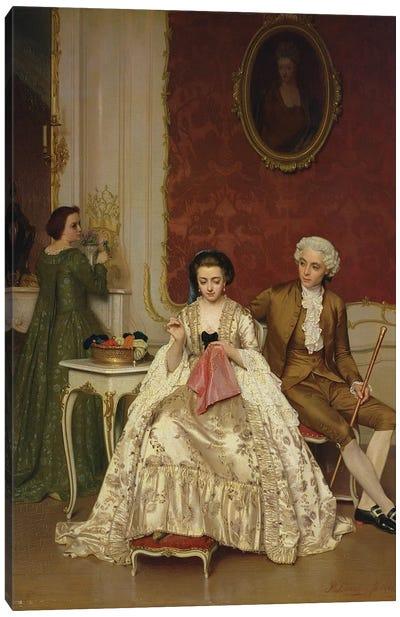 Jealousy, 1861  Canvas Art Print