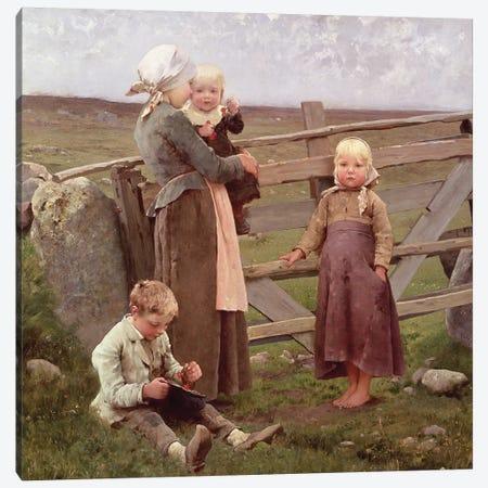The Dalby Gate, Skane, 1884  Canvas Print #BMN2863} by Hugo Salmson Canvas Artwork