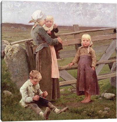 The Dalby Gate, Skane, 1884  Canvas Art Print