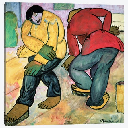 The Floor Polishers, 1911  Canvas Print #BMN2865} by Kazimir Severinovich Malevich Art Print