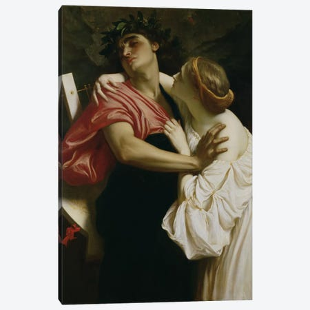 Orpheus and Euridyce  Canvas Print #BMN2867} by Frederic Leighton Canvas Art Print