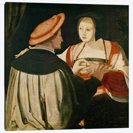 The Engagement  Canvas Print #BMN2872} by Lucas van Leyden Art Print