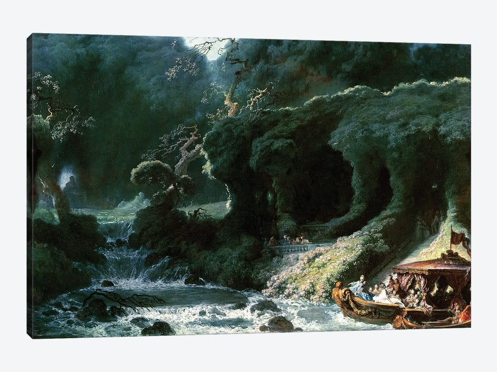 The Fete at Rambouillet or, The Island of Love, c.1770  by Jean-Honore Fragonard 1-piece Canvas Art Print