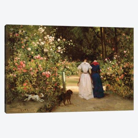 Promenade  Canvas Print #BMN2878} by Constant-Emile Troyon Art Print