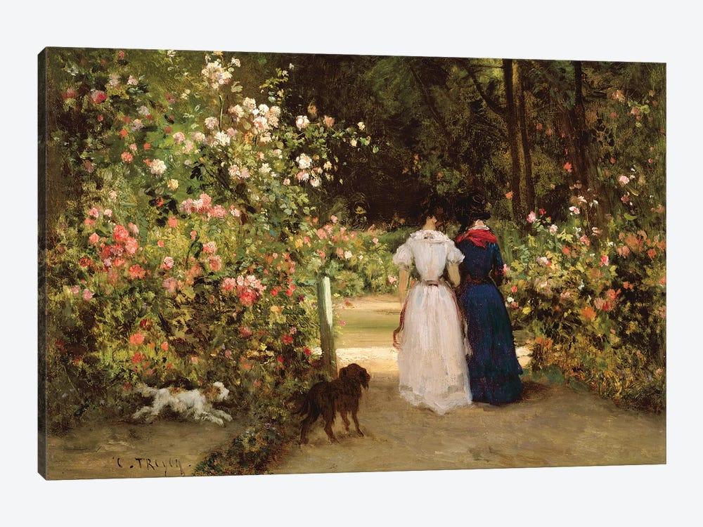 Promenade  by Constant-Emile Troyon 1-piece Canvas Art Print