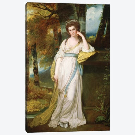 Portrait of Mrs. Henry Maxwell  Canvas Print #BMN2879} by George Romney Art Print