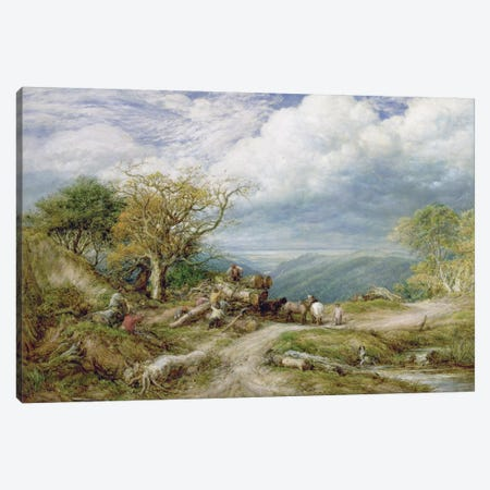 The Timber Waggon, 1872  Canvas Print #BMN287} by John Linnell Canvas Art Print