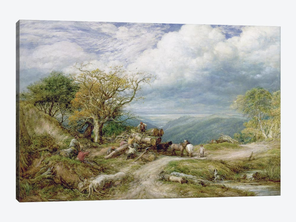 The Timber Waggon, 1872  by John Linnell 1-piece Art Print