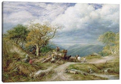 The Timber Waggon, 1872  Canvas Art Print