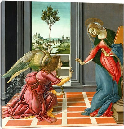 Annunciation by Sandro Botticelli Canvas Artwork