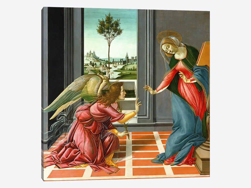Cestello Annunciation  by Sandro Botticelli 1-piece Canvas Print