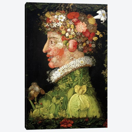 Spring, 1573  Canvas Print #BMN2882} by Giuseppe Arcimboldo Canvas Artwork