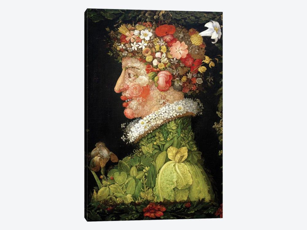 Spring, 1573  by Giuseppe Arcimboldo 1-piece Canvas Artwork
