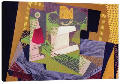 Composition on a Table, 1916  Canvas Art Print