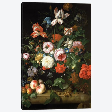 Still Life With Flowers Canvas Print #BMN2890} by Rachel Ruysch Art Print