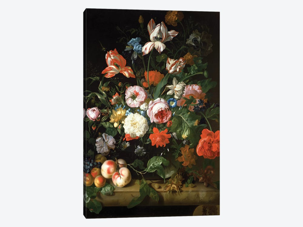 Still Life With Flowers by Rachel Ruysch 1-piece Art Print