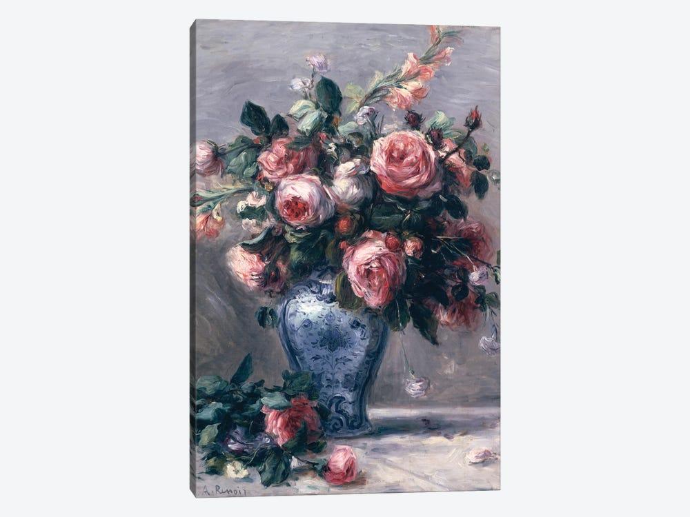 Vase of Roses  by Pierre-Auguste Renoir 1-piece Art Print