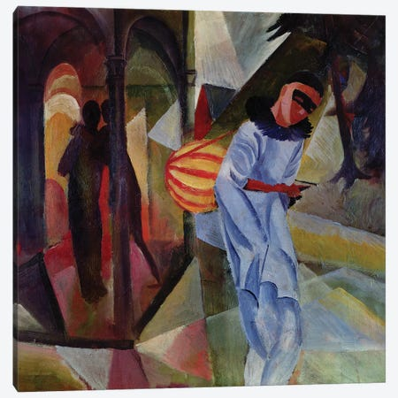 Pierrot, 1913  Canvas Print #BMN2895} by August Macke Canvas Wall Art