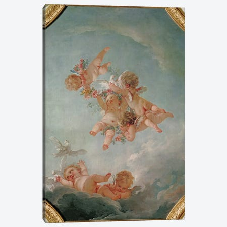 Spring, from a series of the Four Seasons in the Salle du Conseil  Canvas Print #BMN2896} by Francois Boucher Canvas Art