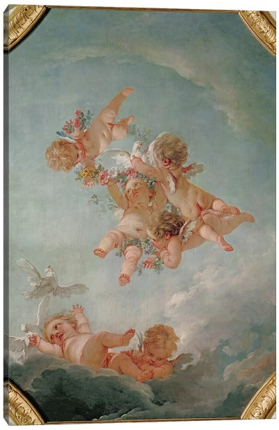 Spring, from a series of the Four Seasons in the Salle du Conseil  Canvas Art Print