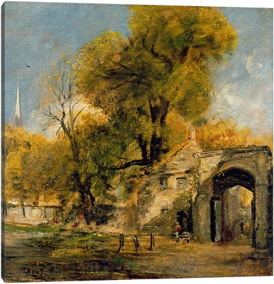 Harnham Gate, Salisbury, c.1820-21  Canvas Art Print